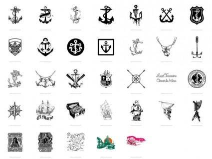 Trend nautical theme vector 33