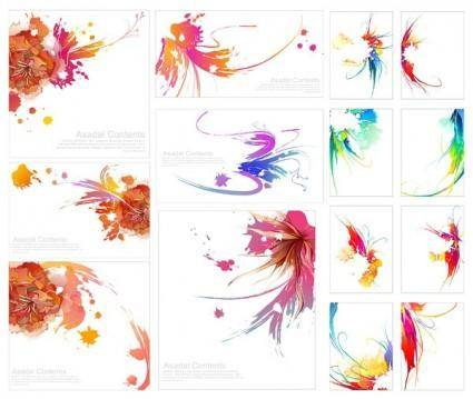 Effect of colorful ink vector