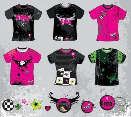 free vector Tshirt design trend vector