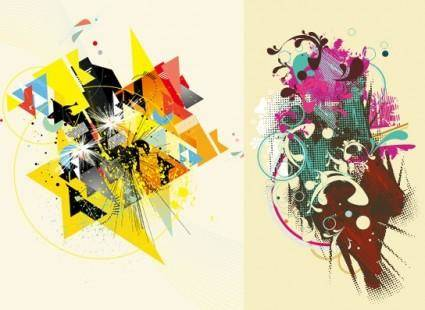 free vector 2 the trend of design elements vector