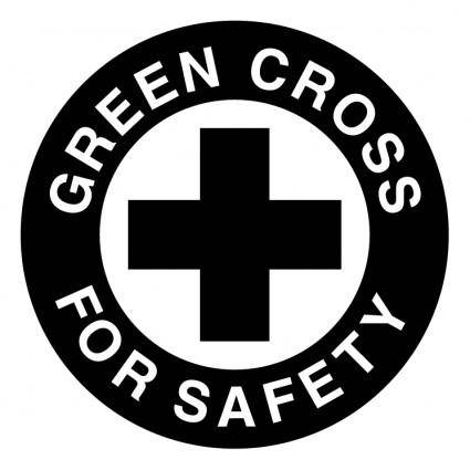 free vector Green cross for safety
