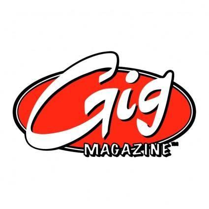 free vector Gig magazine