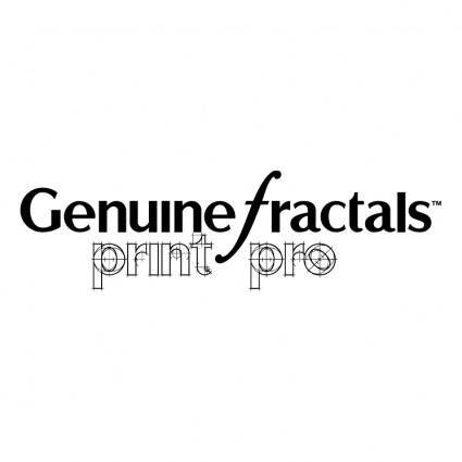 free vector Genuine fractals printpro
