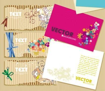 free vector Beautiful card 01 vector