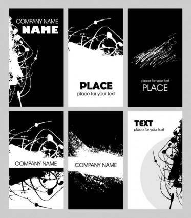 free vector Black and white rust card design template vector 2