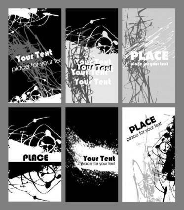 free vector Black and white rust card design template vector 1