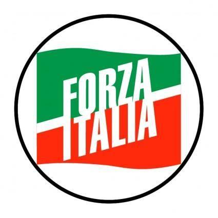 free vector Forza italia