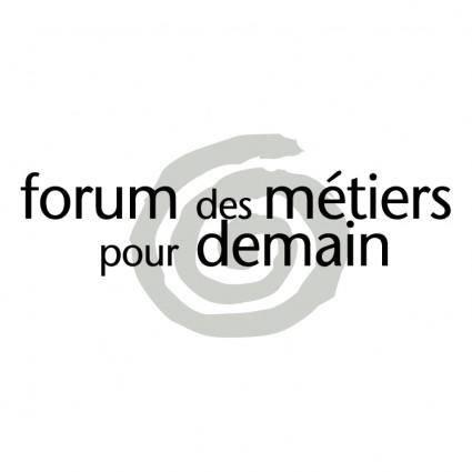 free vector Forum des metiers pour demain
