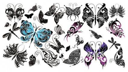 free vector Beautiful butterfly totem vector