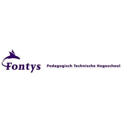 free vector Fontys pedagogisch technische hogeschool