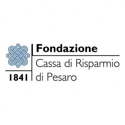 free vector Fondazione cassa di risparmio pesaro