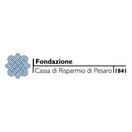 free vector Fondazione cassa di risparmio pesaro 0