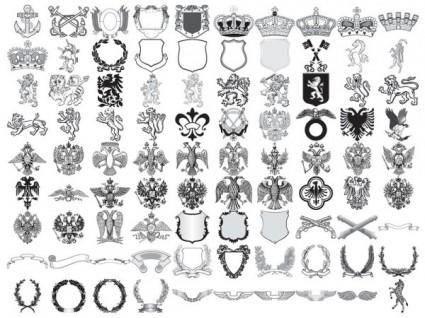 free vector 90 european royal element vector shall