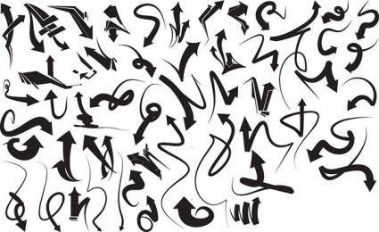 free vector Black and white design elements vector series 5 dynamic arrow