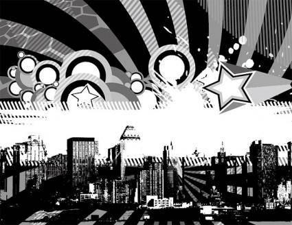 free vector Vector colorful metropolis