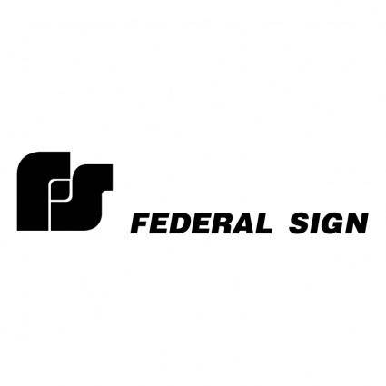 free vector Federal sign