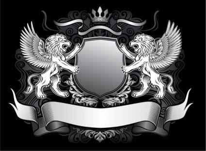 free vector Lion shield vector 1