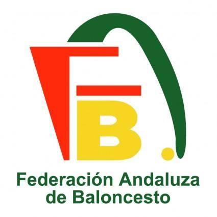 free vector Federacion andaluza de baloncesto