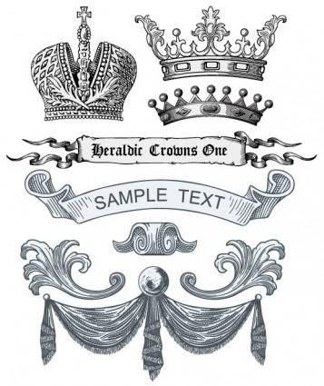 free vector European royal element vector