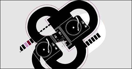 Dj musical elements vector