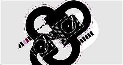 free vector Dj musical elements vector