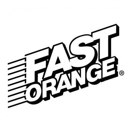 free vector Fast orange