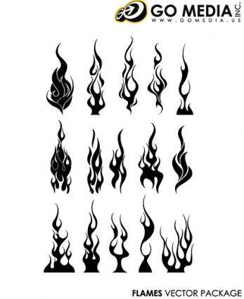 free vector Go media produced vector cool flames