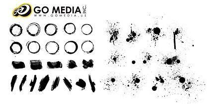 free vector Go media produced vector ink ink series