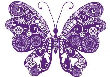 free vector Beautiful butterflies vector