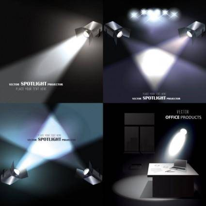 free vector Light projector vector