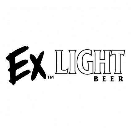 free vector Ex light beer