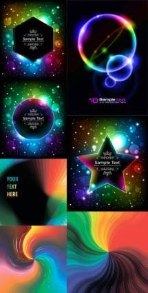 free vector Brilliant glow color effects vector
