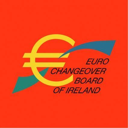 free vector Euro changeover board of ireland