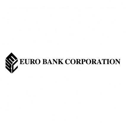 free vector Euro bank corporation
