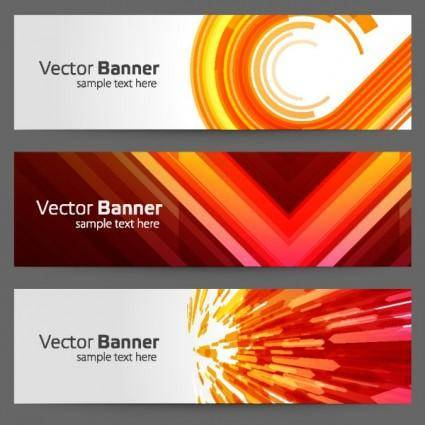 The gorgeous strip card 01 vector