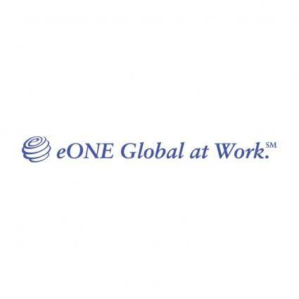 free vector Eone global at work