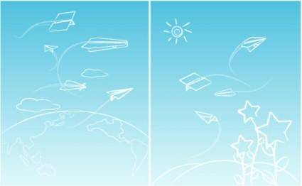 Line paper airplane graffiti vector