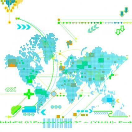 Trend map vector