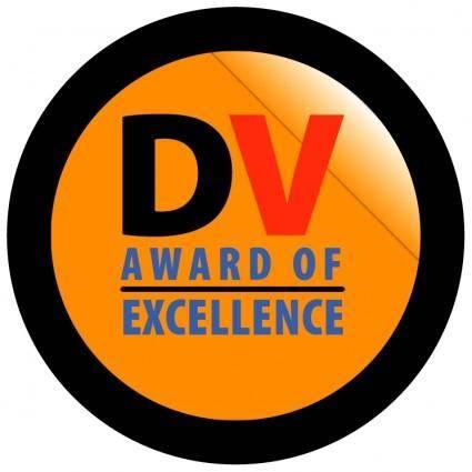 free vector Dv award of excellence