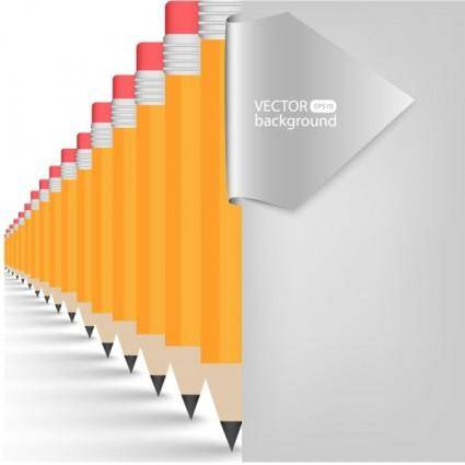Realistic learning stationery 01 vector