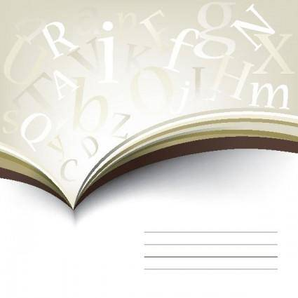 free vector Books letters 01 vector