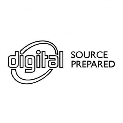 Digital source prepared
