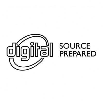Digital source prepared