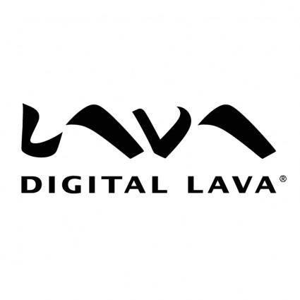 free vector Digital lava