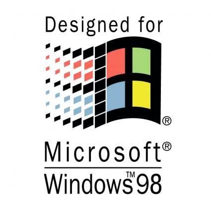 free vector Designed for microsoft windows 98