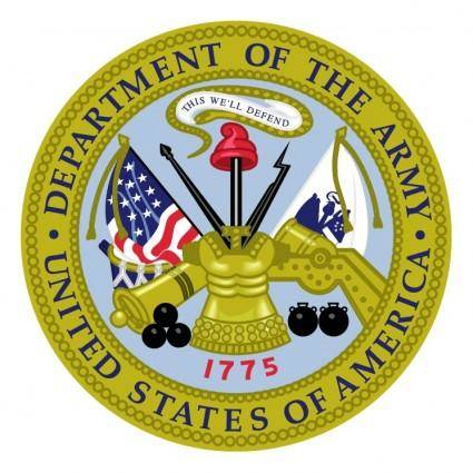 free vector Department of the army
