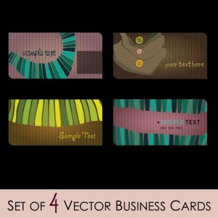 free vector Fashion illustrator business card 01 vector