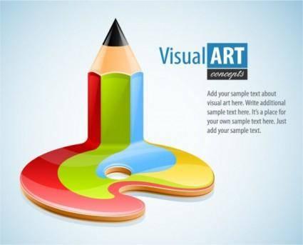 free vector Special theme of vector 3 pen