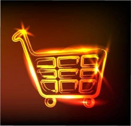 Glare cart vector