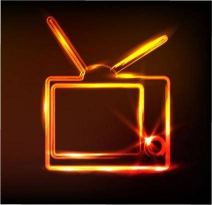 free vector Glare tv vector
